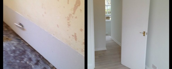 Before and after Flooring & Decorating